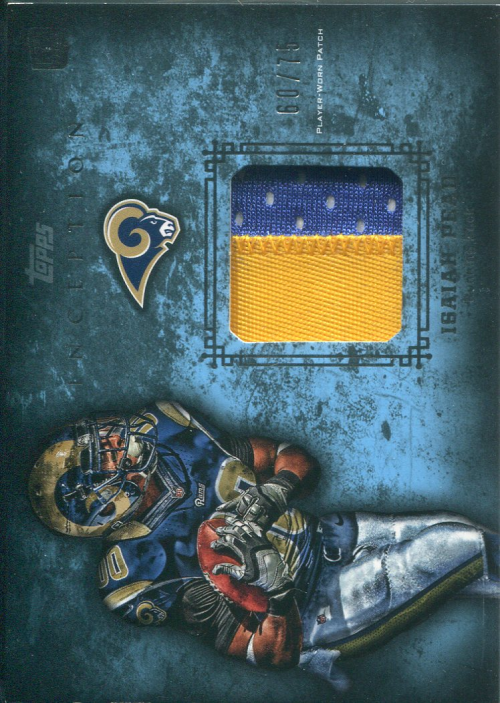 2012 Topps Inception Rookie Relics Patch Blue #RPIP Isaiah Pead