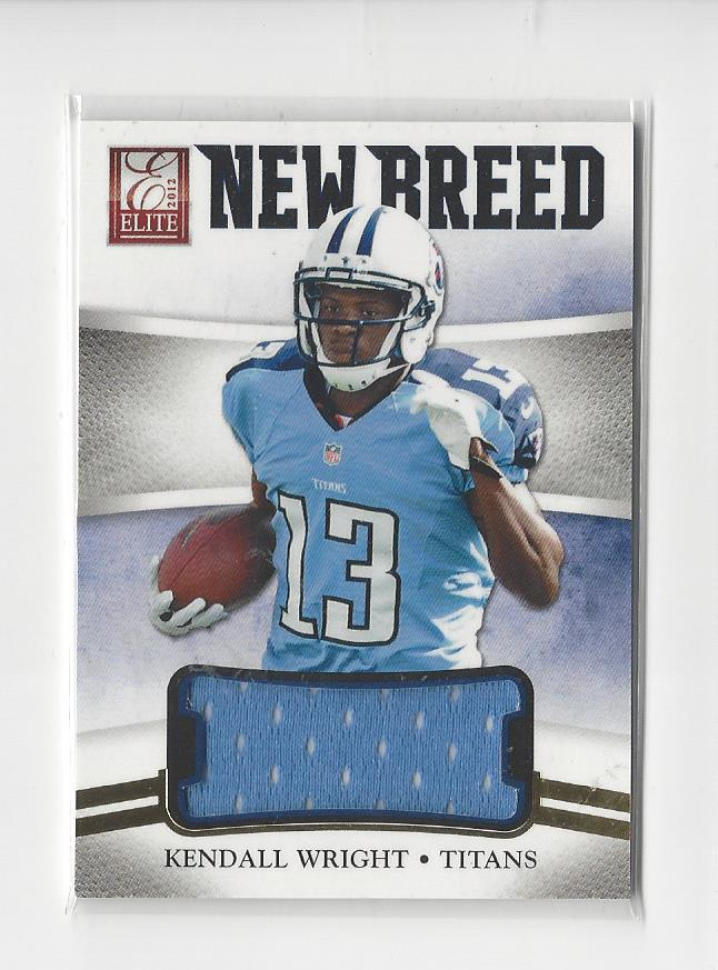 Details about 2012 Elite New Breed Kendall Wright Rookie JERSEY Titans /299