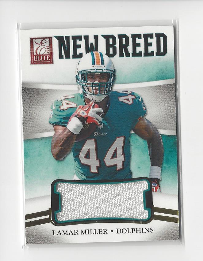 sports shoes af612 7b296 Details about 2012 Elite New Breed Lamar Miller Rookie JERSEY Dolphins  Texans /399