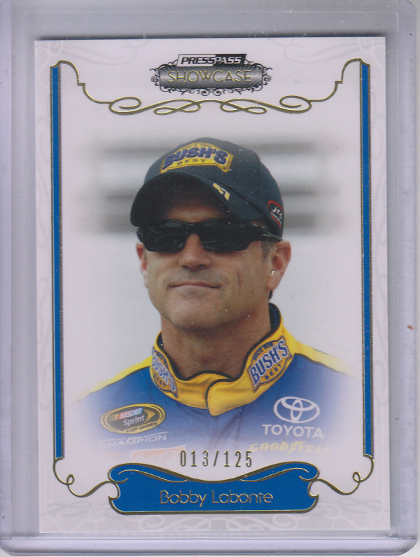 2012 Press Pass Showcase Gold #16 Bobby Labonte