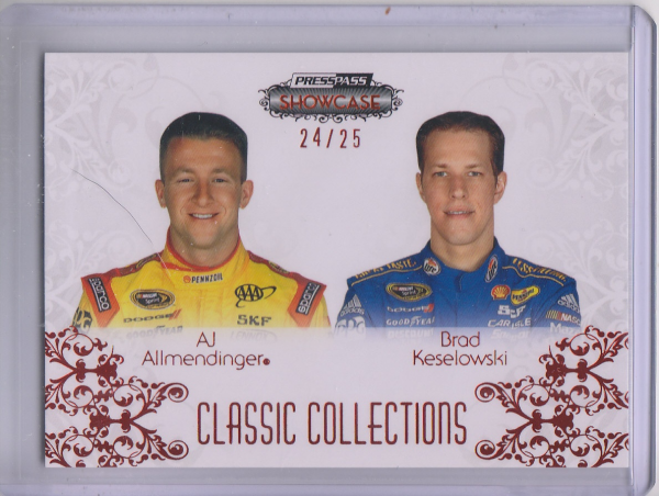 2012 Press Pass Showcase Red #58 Brad Keselowski CC/AJ Allmendinger