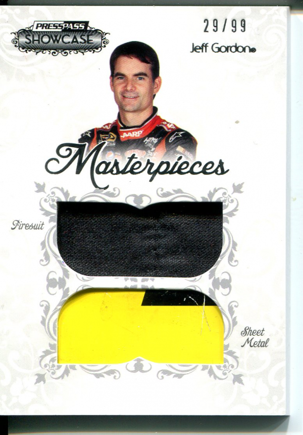 2012 Press Pass Showcase Masterpieces Memorabilia #MPJG Jeff Gordon/99