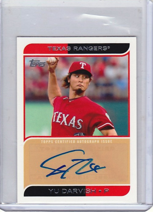 2012 Topps Mini Autographs #MA10 Yu Darvish