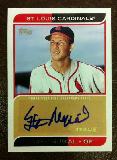 2012 Topps Mini Autographs #MA20 Stan Musial