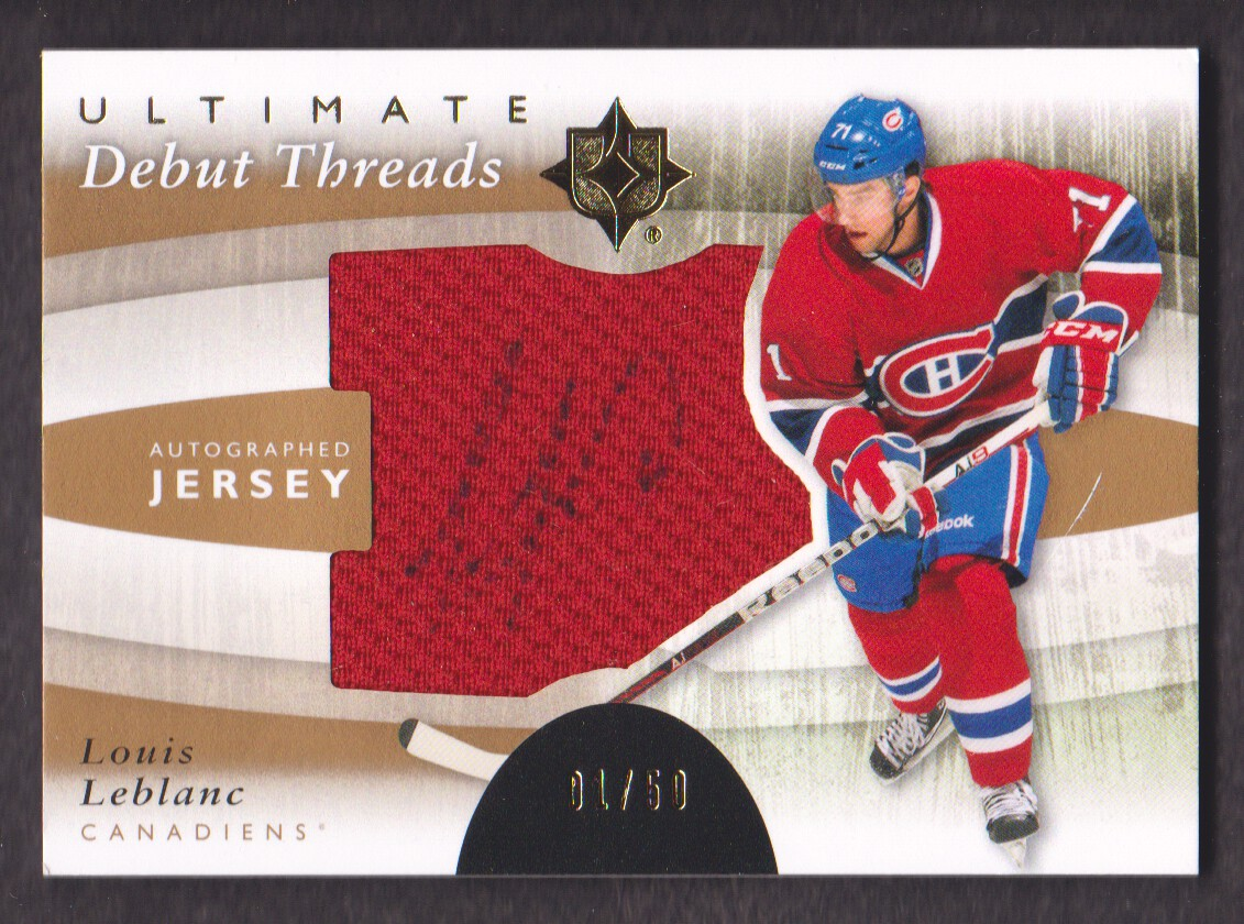 2011-12 Ultimate Collection Debut Threads Autographs #DTLL Louis Leblanc