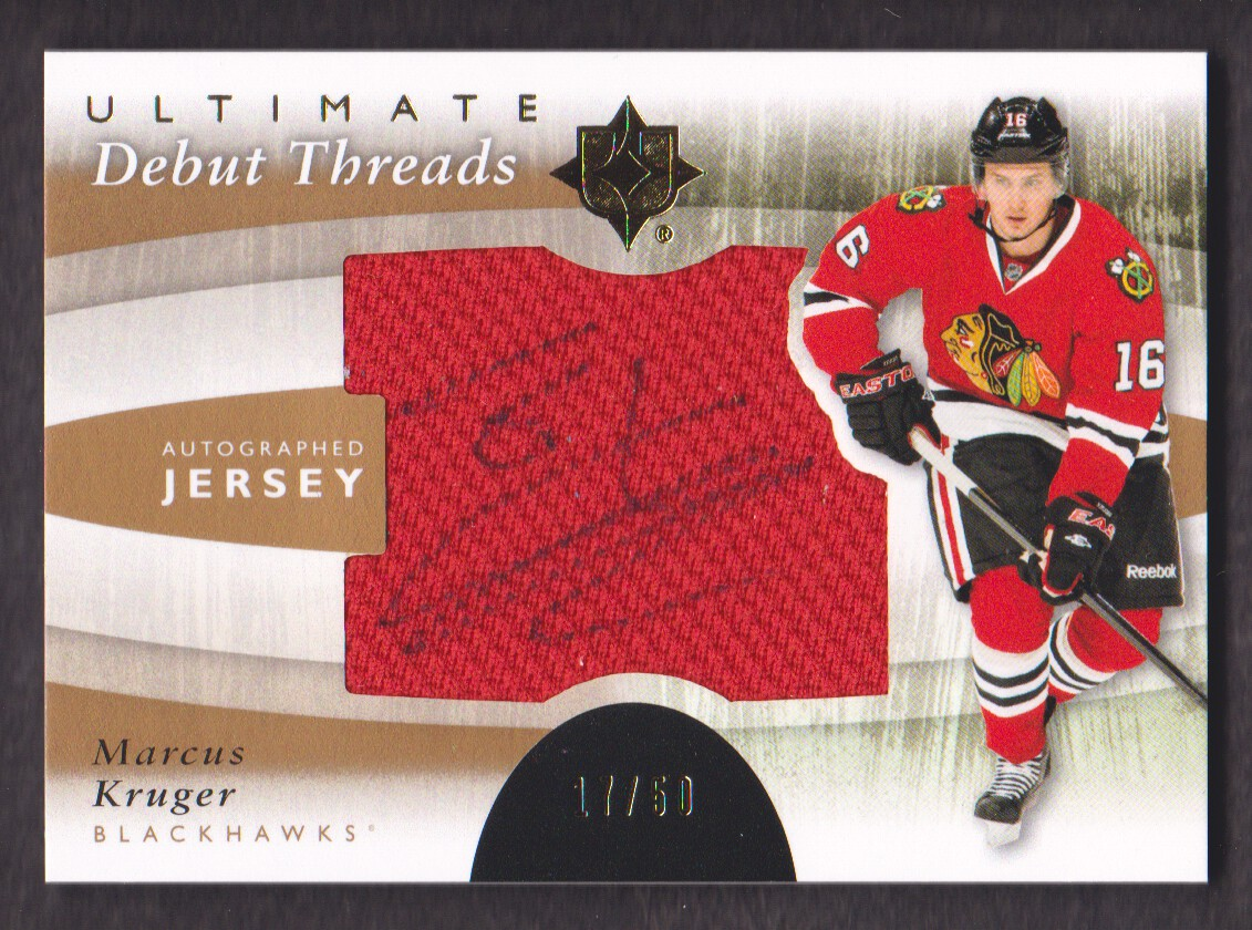 2011-12 Ultimate Collection Debut Threads Autographs #DTMK Marcus Kruger