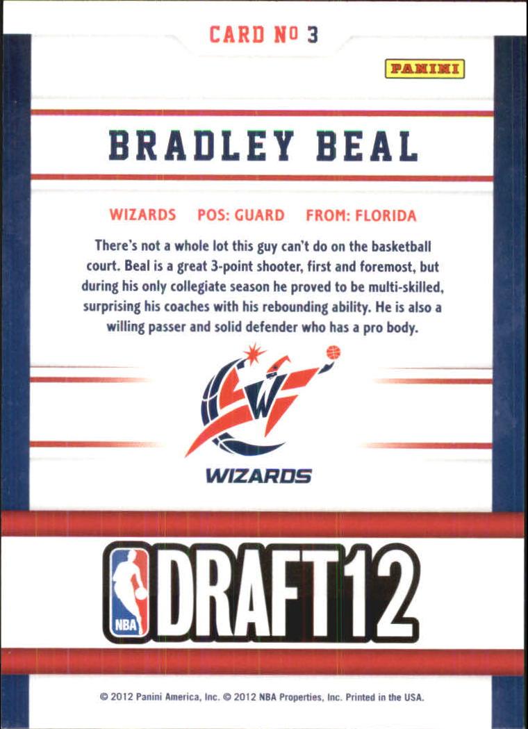2012-13 Hoops Draft Night #3 Bradley Beal back image