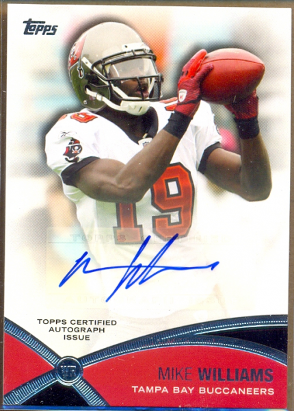 2012 Topps Prolific Playmakers Autographs #PPAMWI Mike Williams