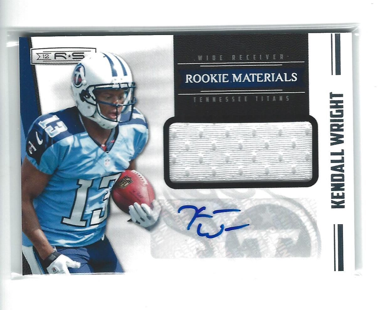 2012 Rookies and Stars #222 Kendall Wright JSY AU RC