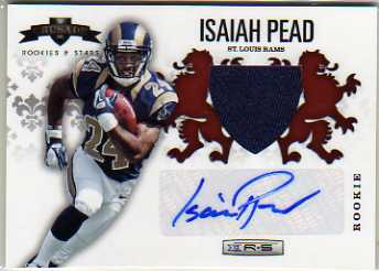 2012 Rookies and Stars Rookie Crusade Materials Autographs Red #30 Isaiah Pead