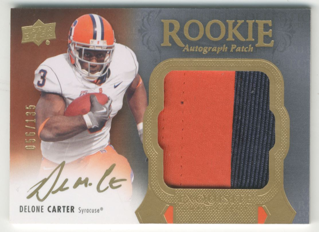 2011 Exquisite Collection #147 Delone Carter JSY AU