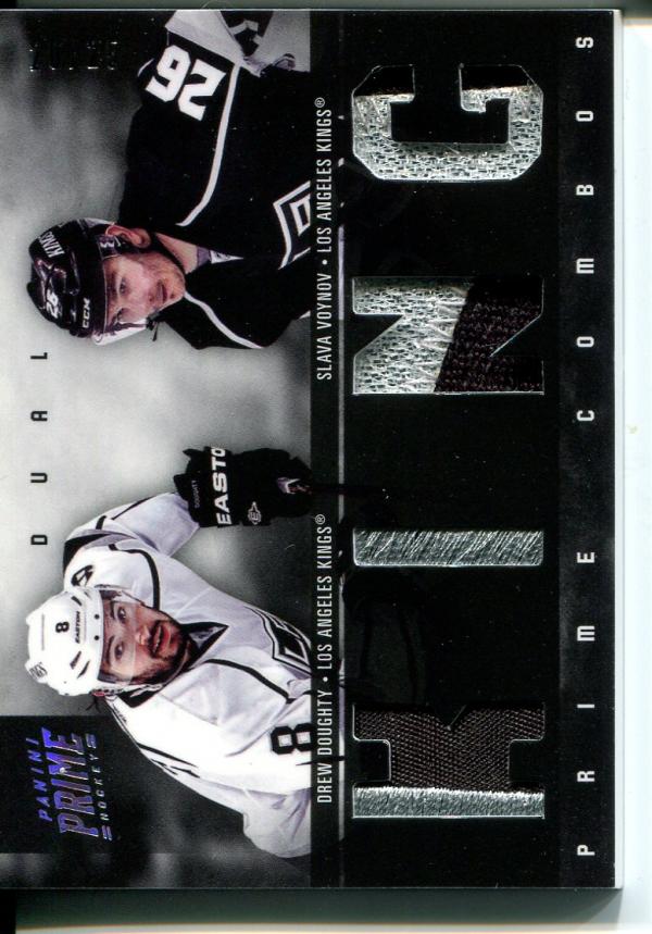 2011-12 Panini Prime Combos Jerseys Patch #36 Drew Doughty/25/Slava Voynov