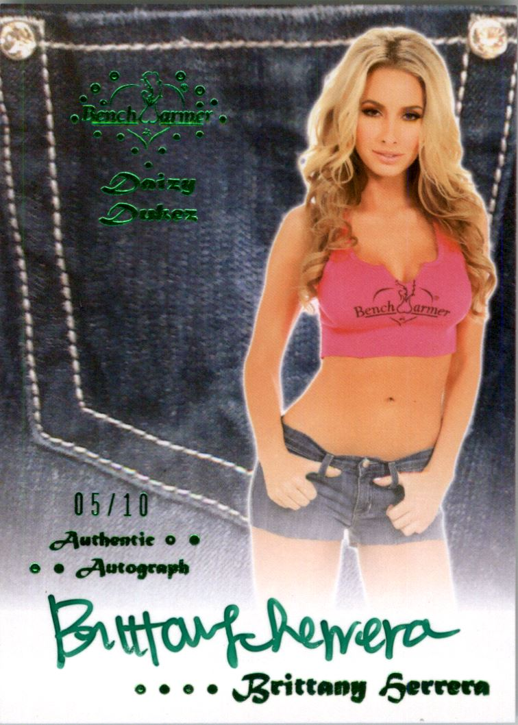 Benchwarmer Brittany Herrera 2012 Happy Holidays Gold Foil Autograph Card Collectibles