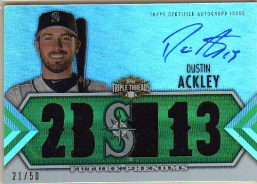 2012 Topps Triple Threads Emerald #148 Dustin Ackley Jsy AU