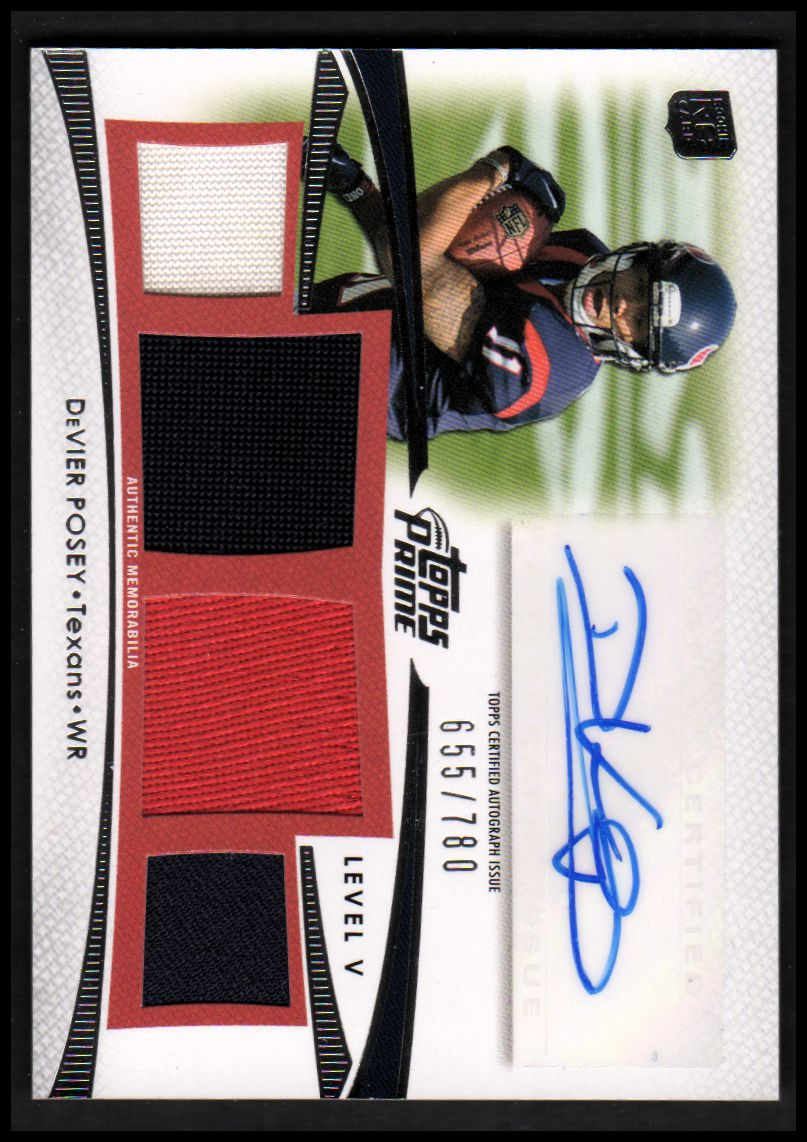 2012 Topps Prime Autographed Relics Level 5 #PVDP DeVier Posey/780