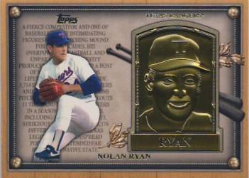 2012 Topps Update Gold Hall of Fame Plaque #HOFNR Nolan Ryan