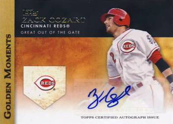 2012 Topps Golden Moments Autographs #ZC Zack Cozart UPD