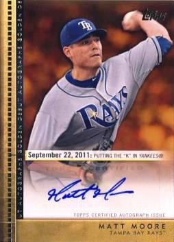 2012 Topps Update Golden Debut Autographs #MM Matt Moore
