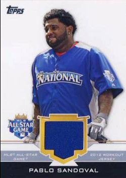 2012 Topps Update All-Star Stitches #PS Pablo Sandoval