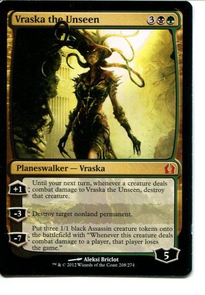 2012 Magic the Gathering Return to Ravnica #208 Vraska the Unseen M :K: :G: