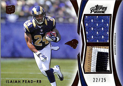 2012 Topps Prime Dual Relics Copper #DRIP Isaiah Pead