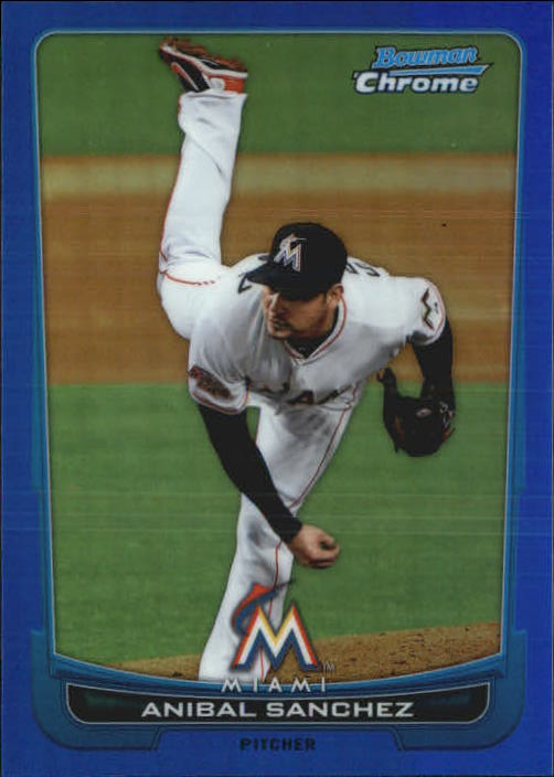 2012 Bowman Chrome Blue Refractors #8 Anibal Sanchez