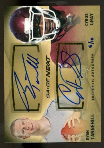 2012 SAGE Next Dual Autographs #D29 Ryan Tannehill/Cyrus Gray