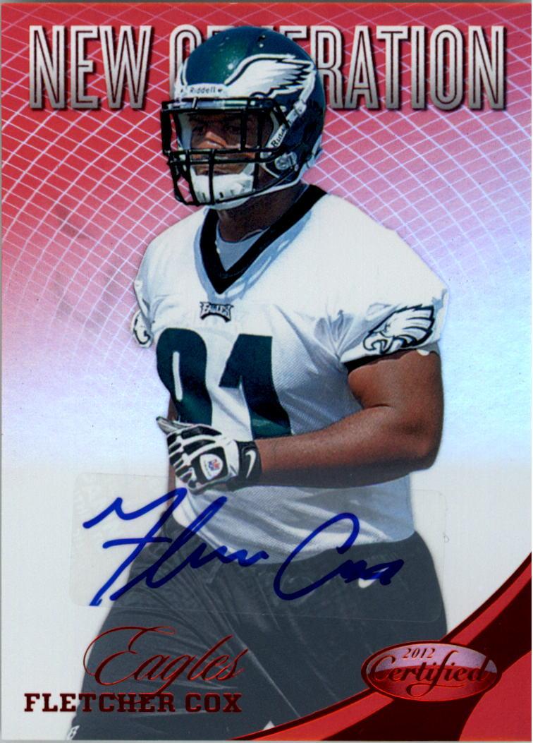 2012 Certified Mirror Red Signatures #271 Fletcher Cox/350