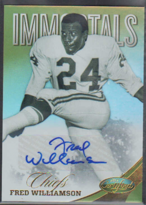 2012 Certified Mirror Gold Signatures #177 Fred Williamson/25