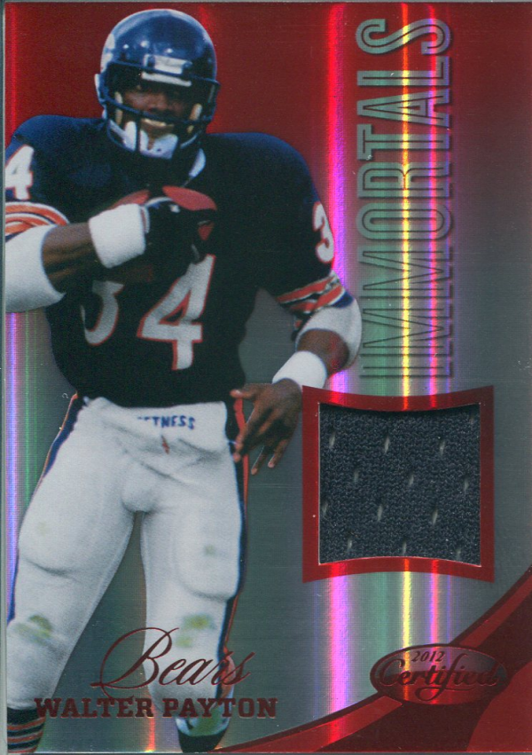 2012 Certified Mirror Red Materials #208 Walter Payton/199