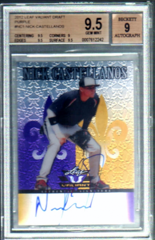 2012 Leaf Valiant Draft Purple #NC1 Nick Castellanos