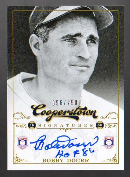 2012 Panini Cooperstown Signatures #11 Bobby Doerr/250
