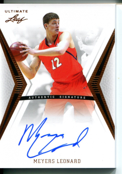 2012-13 Leaf Ultimate #ML1 Meyers Leonard