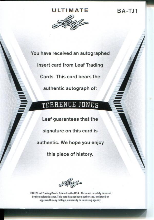 2012-13 Leaf Ultimate #TJ1 Terrence Jones back image