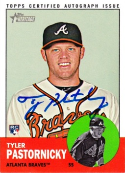 2012 Topps Heritage Real One Autographs #TP Tyler Pastornicky HN