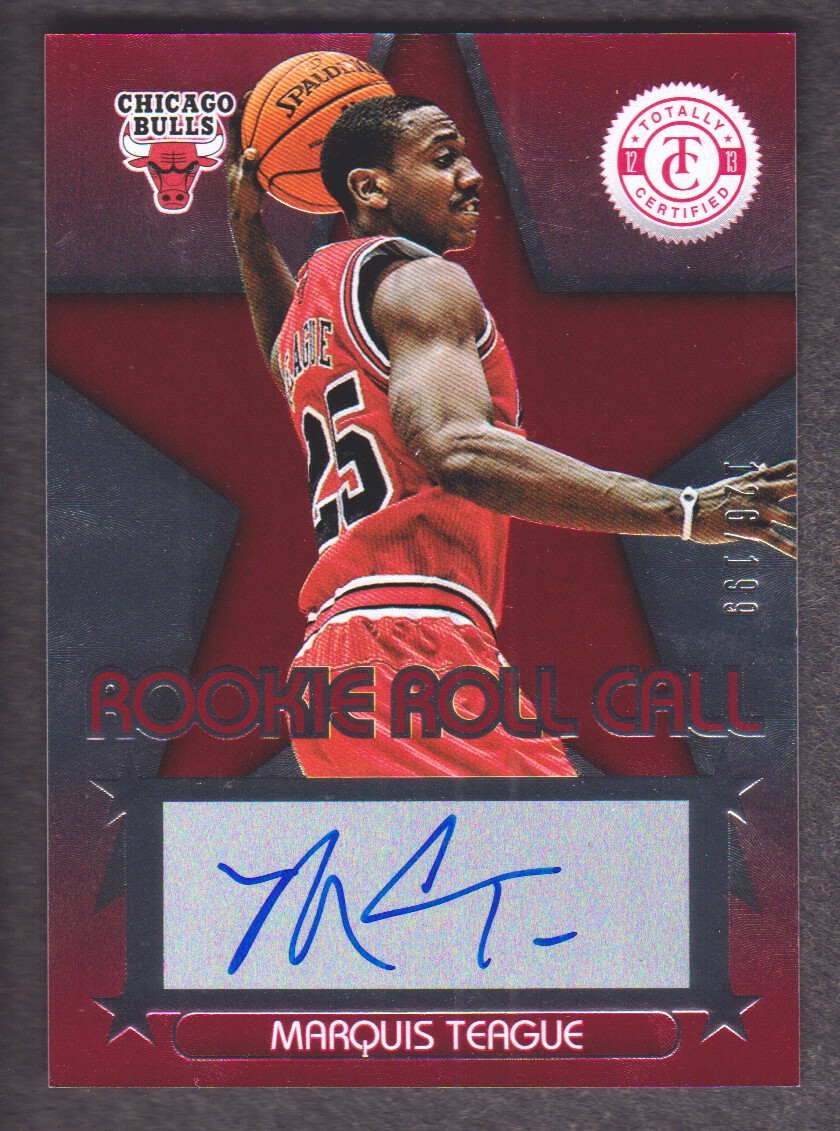 2012-13 Totally Certified Rookie Roll Call Autographs Red #60 Marquis Teague/199