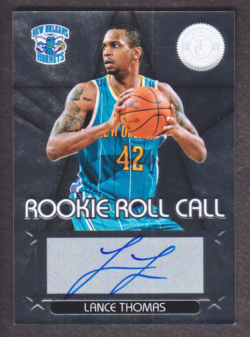 2012-13 Totally Certified Rookie Roll Call Autographs #20 Lance Thomas