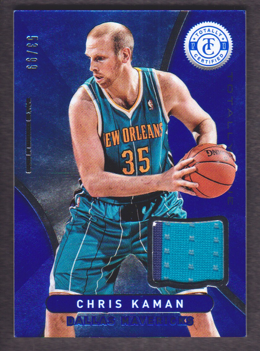 2012-13 Totally Certified Blue Materials #12 Chris Kaman/99