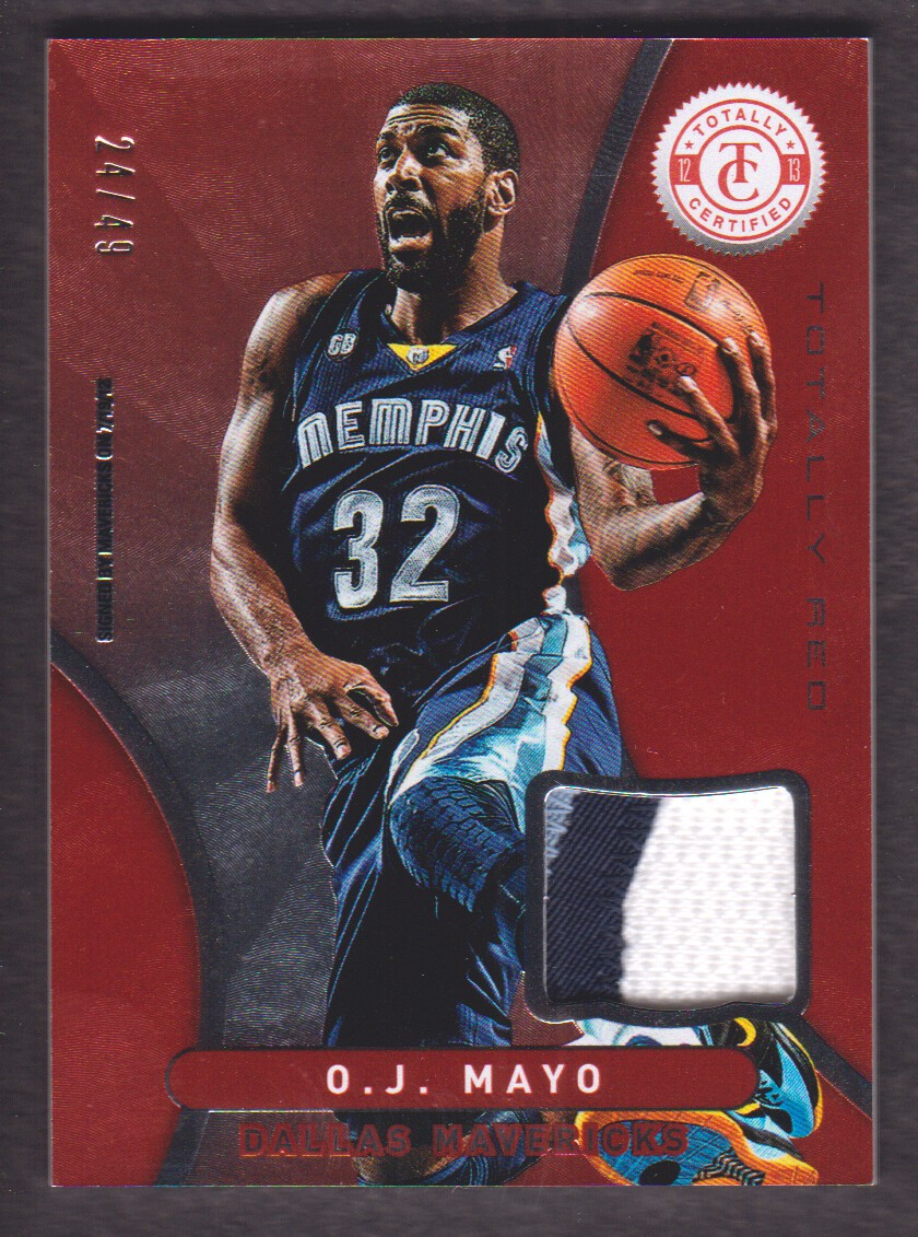 2012-13 Totally Certified Red Materials Prime #40 O.J. Mayo