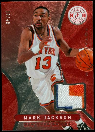 2012-13 Totally Certified Red Materials Prime #99 Mark Jackson