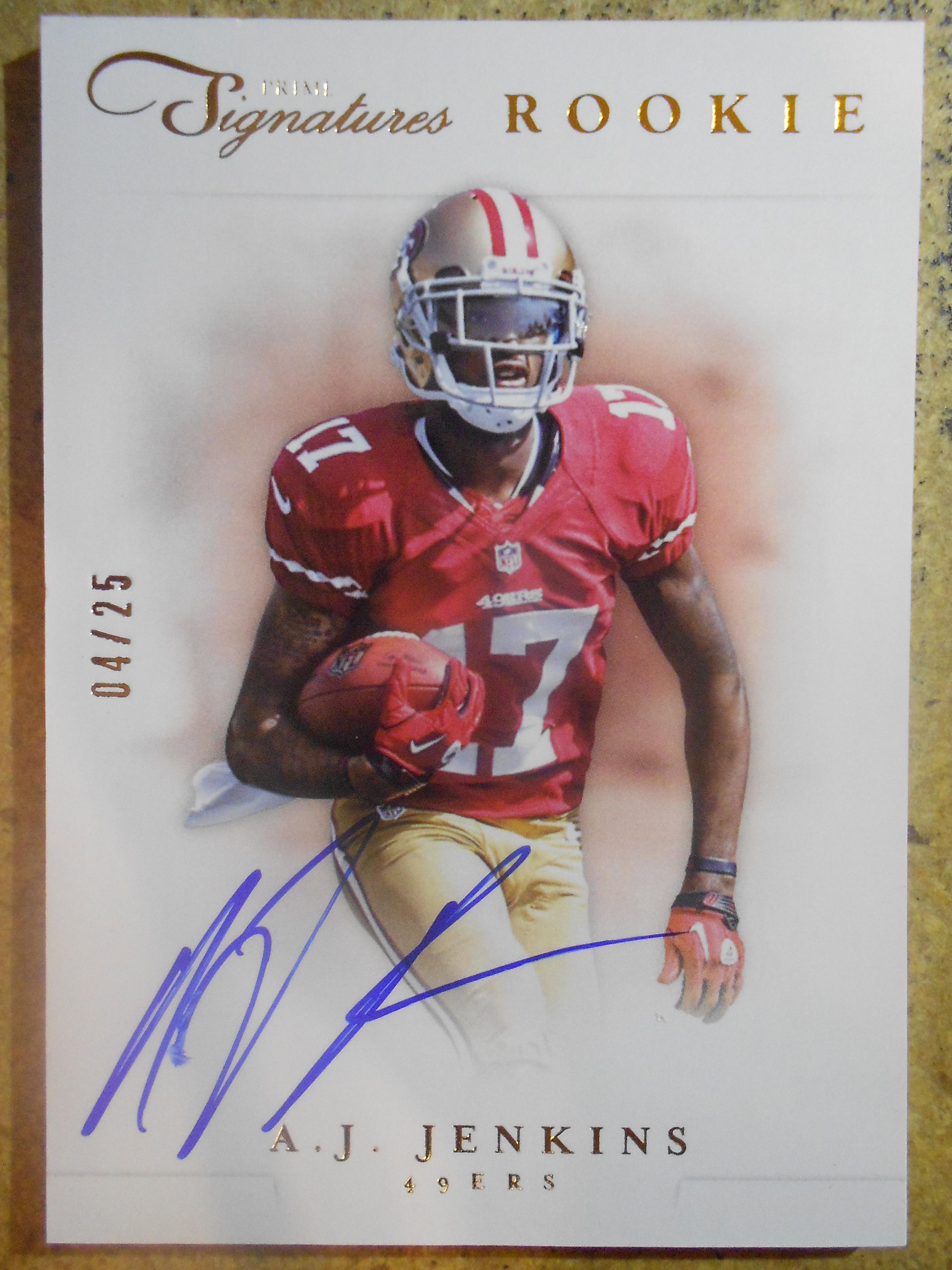 2012 Prime Signatures Autographs Gold #241 A.J. Jenkins/25