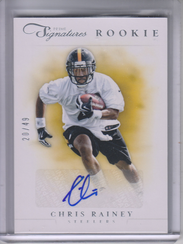 2012 Prime Signatures Autographs Silver #180 Chris Rainey/49