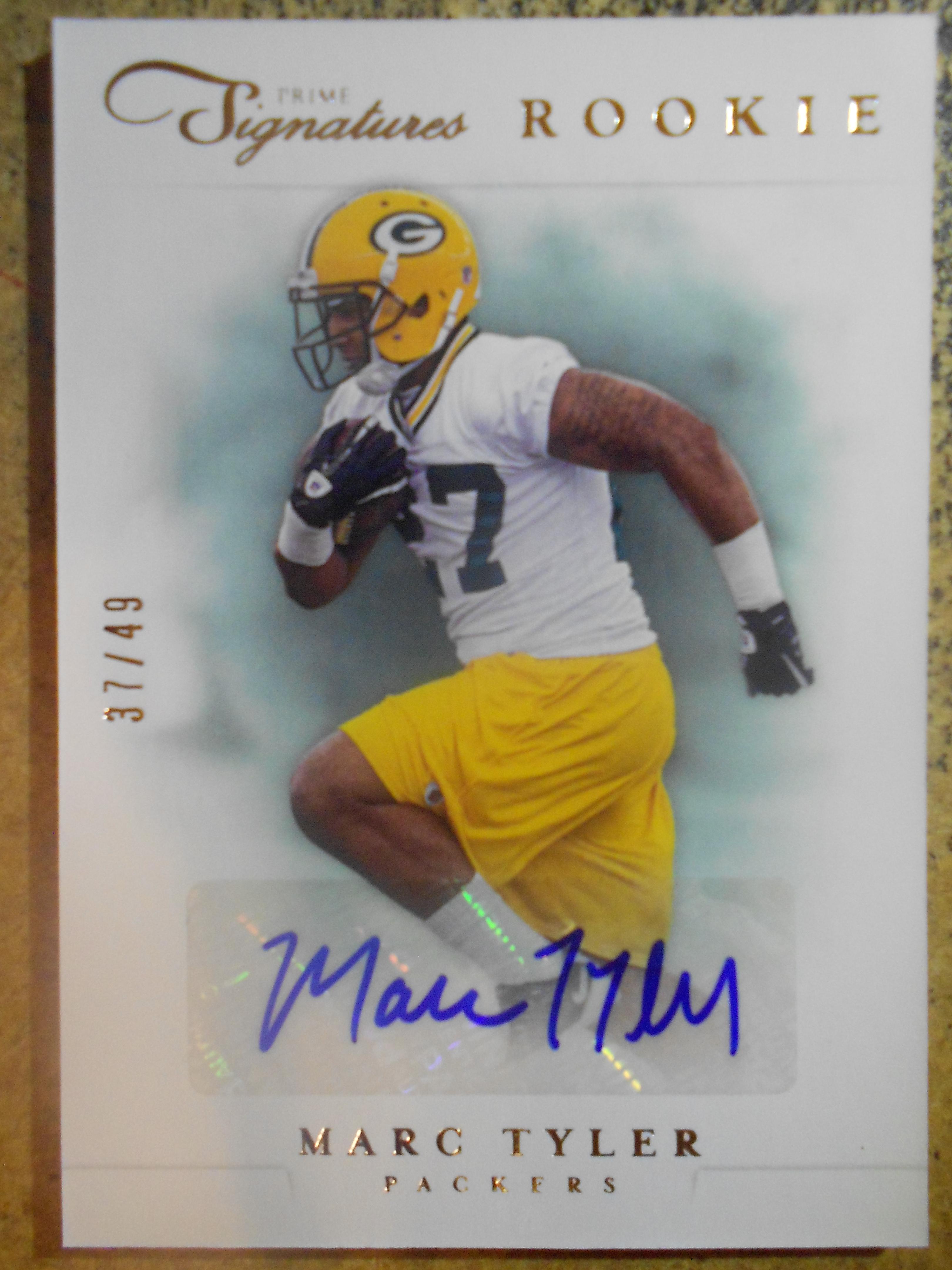 2012 Prime Signatures Autographs Silver #206 Marc Tyler/49