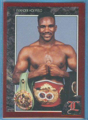 1992 Legends Red Foil Boxing Card #29 Evander Holyfield