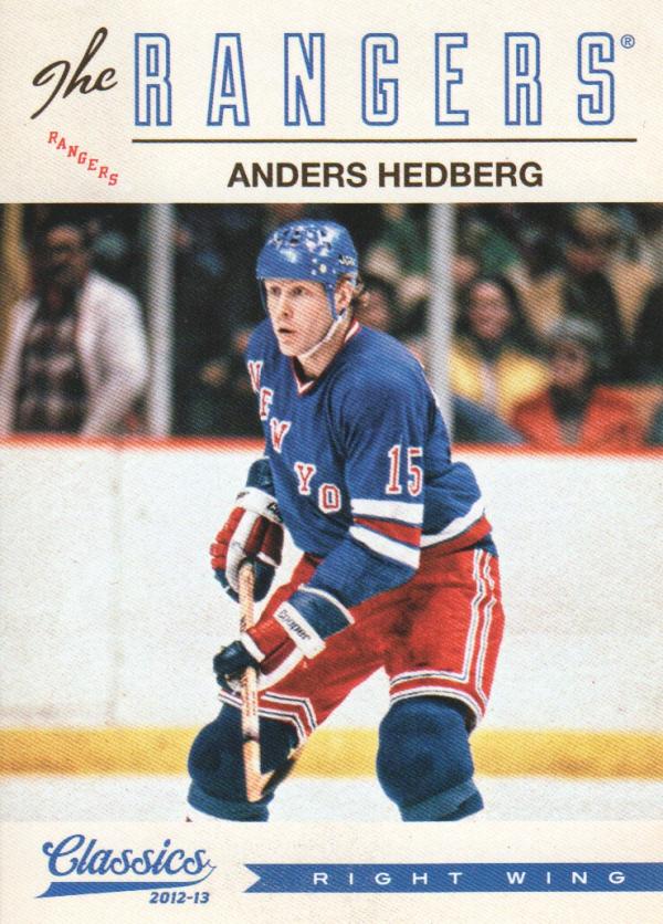 2012-13 Classics Signatures #43 Anders Hedberg