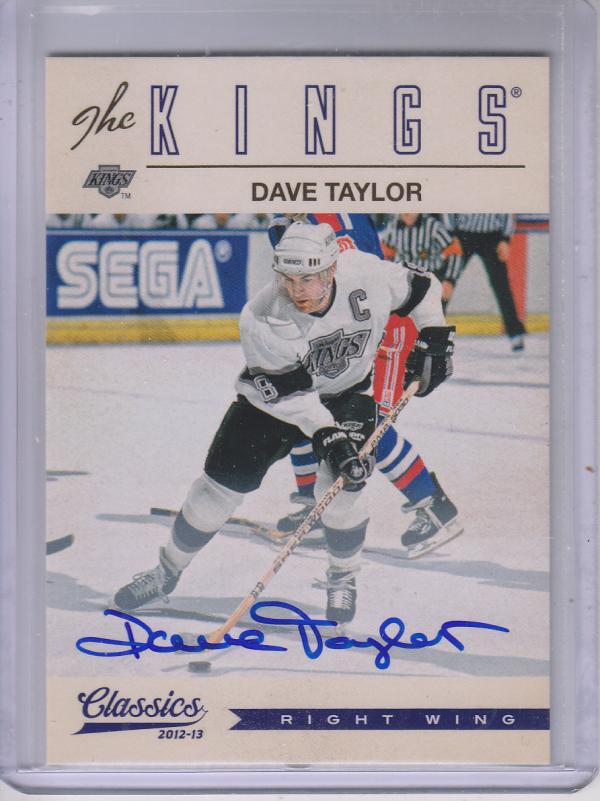 2012-13 Classics Signatures Autographs #5 Dave Taylor