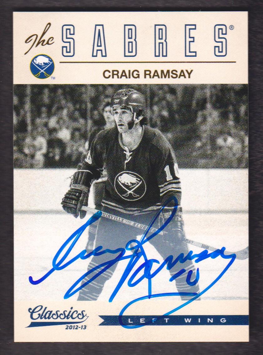 2012-13 Classics Signatures Autographs #121 Craig Ramsay