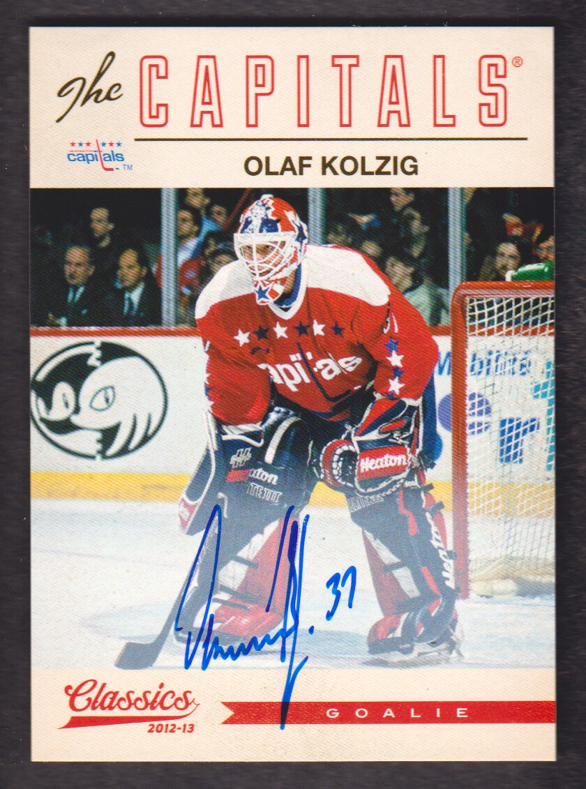 2012-13 Classics Signatures Autographs #126 Olaf Kolzig