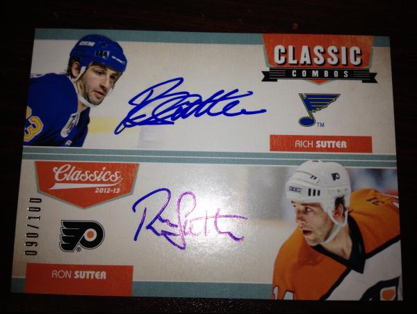 2012-13 Classics Signatures Classic Combos Dual Autographs #28 Rich Sutter/100/Ron Sutter