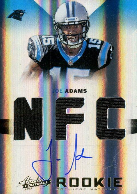 2012 Absolute Rookie Premiere Materials Autographs AFC/NFC #216 Joe Adams